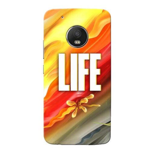 Colorful Life Moto G5 Plus Mobile Cover