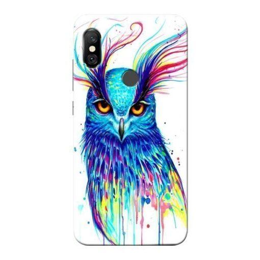Cute Owl Redmi Note 6 Pro Mobile Cover