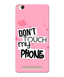 Dont Touch Xiaomi Redmi 3s Mobile Cover