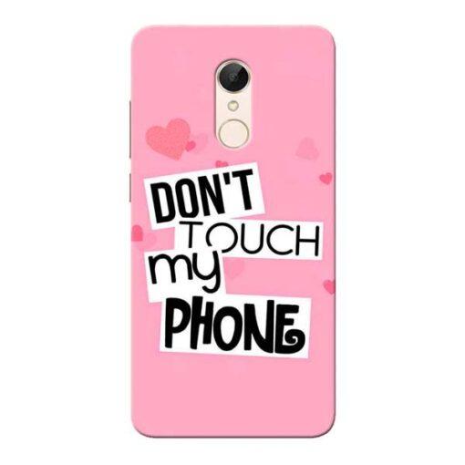 Dont Touch Xiaomi Redmi 5 Mobile Cover
