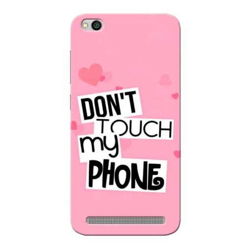 Dont Touch Xiaomi Redmi 5A Mobile Cover
