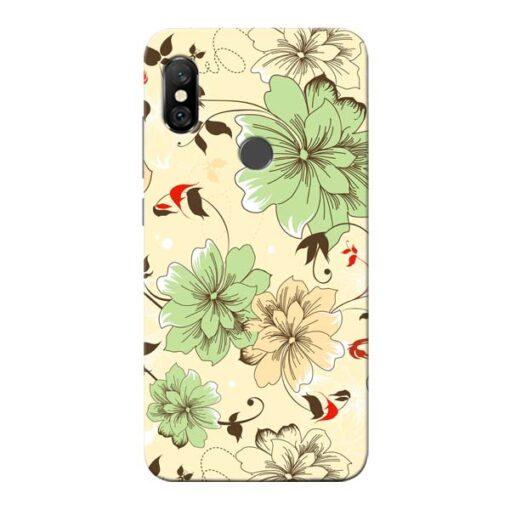 Floral Design Redmi Note 6 Pro Mobile Cover