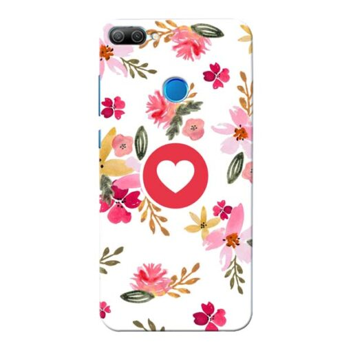 Floral Heart Honor 9N Mobile Cover
