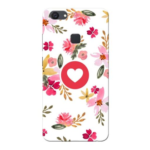 Floral Heart Vivo V7 Plus Mobile Cover