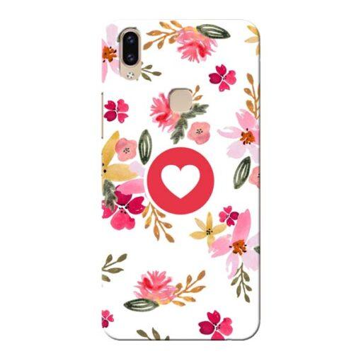 Floral Heart Vivo V9 Mobile Cover