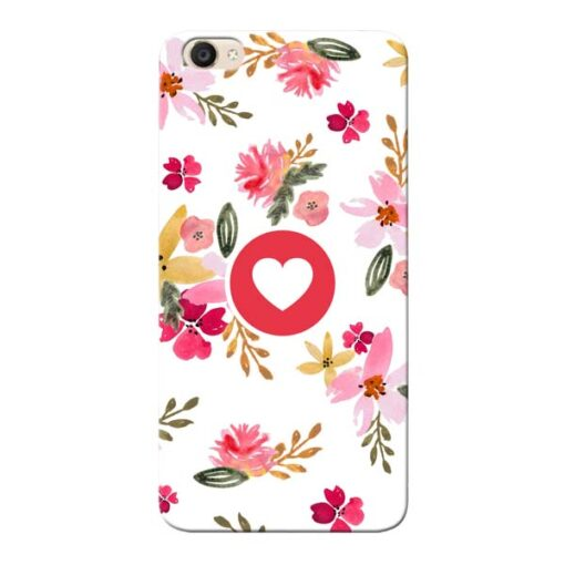 Floral Heart Vivo Y55s Mobile Cover