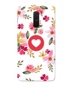 Floral Heart Xiaomi Poco F1 Mobile Cover