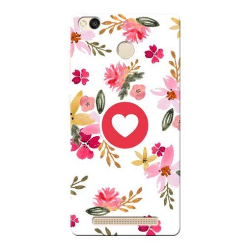 Floral Heart Xiaomi Redmi 3s Prime Mobile Cover