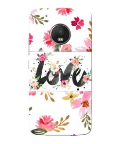 Flower Love Moto G5 Plus Mobile Cover