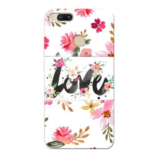 Flower Love Xiaomi Mi A1 Mobile Cover