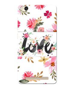 Flower Love Xiaomi Redmi 3s Mobile Cover