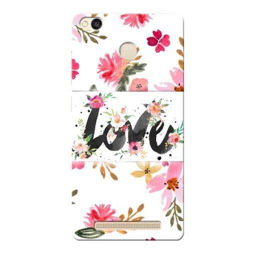 Flower Love Xiaomi Redmi 3s Prime Mobile Cover