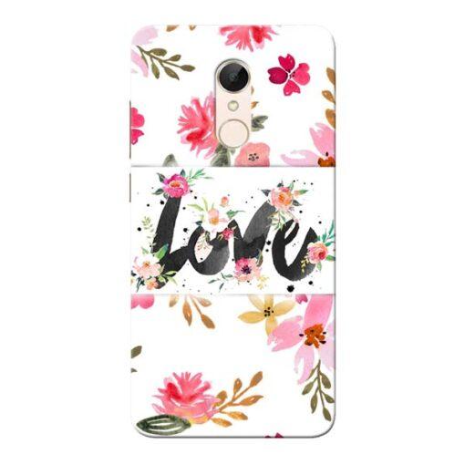 Flower Love Xiaomi Redmi 5 Mobile Cover