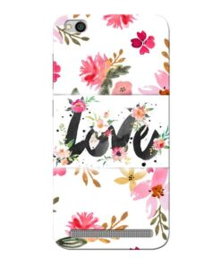 Flower Love Xiaomi Redmi 5A Mobile Cover