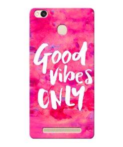 Good Vibes Xiaomi Redmi 3s Prime Mobile Cover