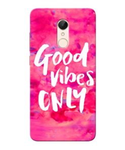 Good Vibes Xiaomi Redmi 5 Mobile Cover