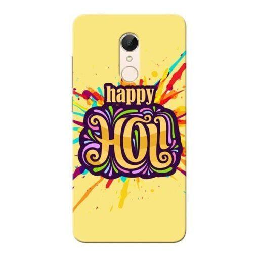 Happy Holi Xiaomi Redmi 5 Mobile Cover
