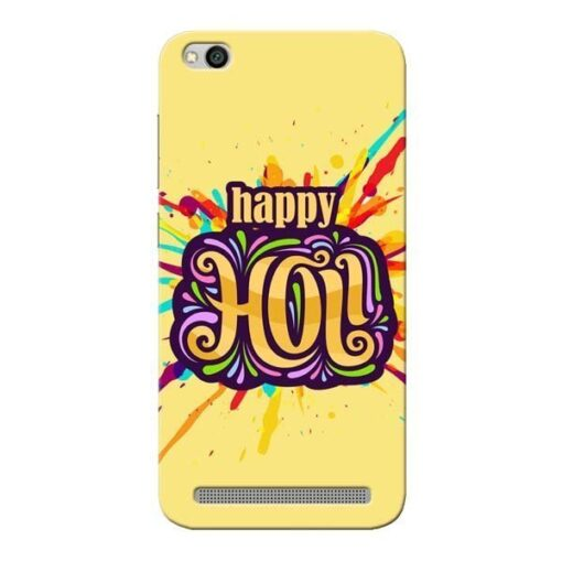 Happy Holi Xiaomi Redmi 5A Mobile Cover
