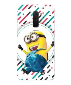 Happy Minion Xiaomi Poco F1 Mobile Cover