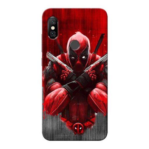 Hero Deadpool Redmi Note 6 Pro Mobile Cover