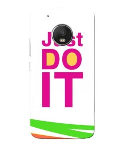 Just Do It Moto G5 Plus Mobile Cover