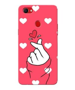 Little Heart Oppo F7 Mobile Covers