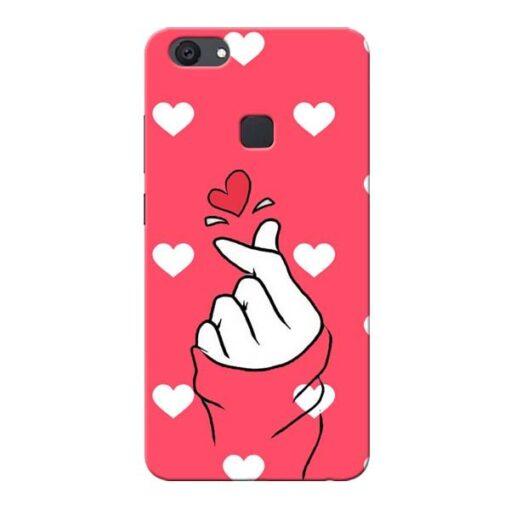 Little Heart Vivo V7 Plus Mobile Cover