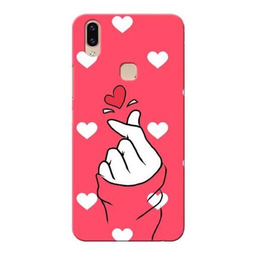 Little Heart Vivo V9 Mobile Cover