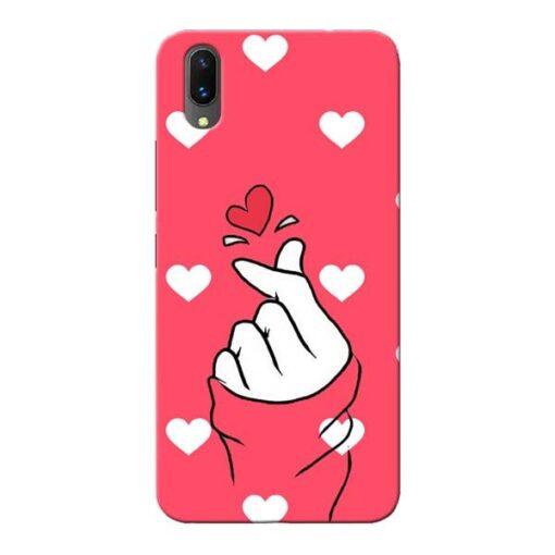 Little Heart Vivo X21 Mobile Cover
