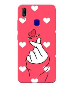Little Heart Vivo Y91 Mobile Cover
