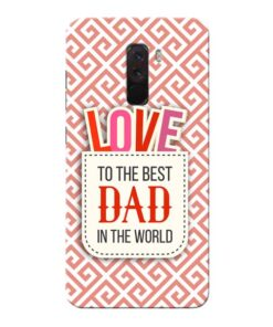 Love Dad Xiaomi Poco F1 Mobile Cover