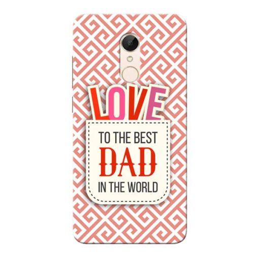 Love Dad Xiaomi Redmi 5 Mobile Cover