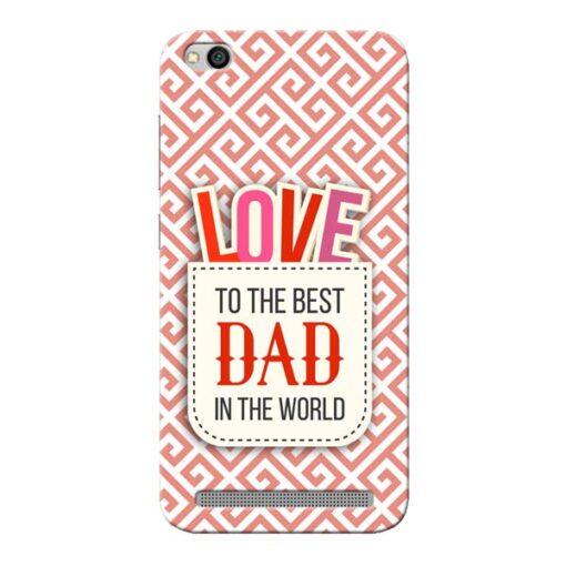 Love Dad Xiaomi Redmi 5A Mobile Cover