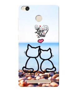 Love You Xiaomi Redmi 3s Prime Mobile Cover