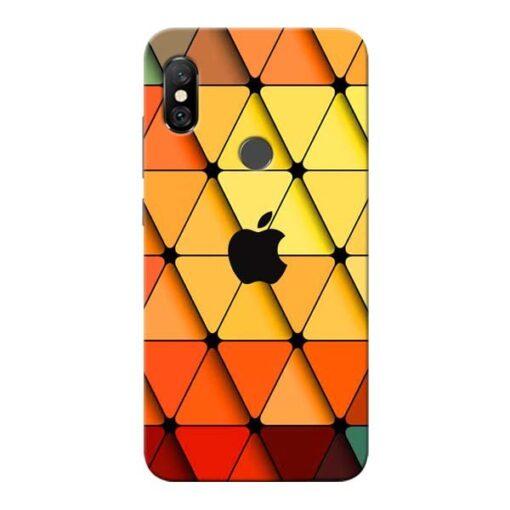 Neon Apple Redmi Note 6 Pro Mobile Cover