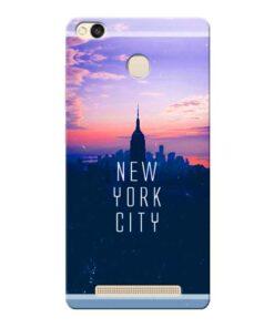 New York City Xiaomi Redmi 3s Prime Mobile Cover