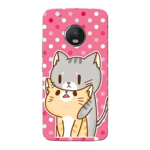 Pretty Cat Moto G5 Plus Mobile Cover