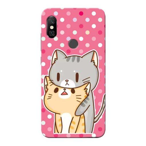 Pretty Cat Redmi Note 6 Pro Mobile Cover
