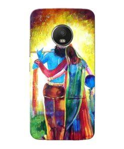 Radha Krishna Moto G5 Plus Mobile Cover