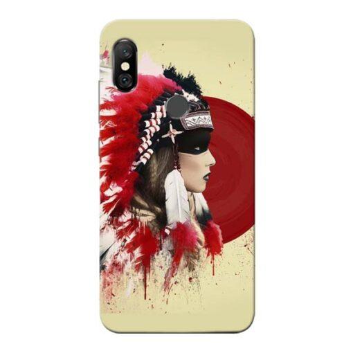 Red Cap Redmi Note 6 Pro Mobile Cover
