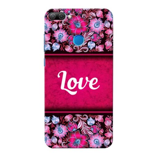 Red Love Honor 9N Mobile Cover