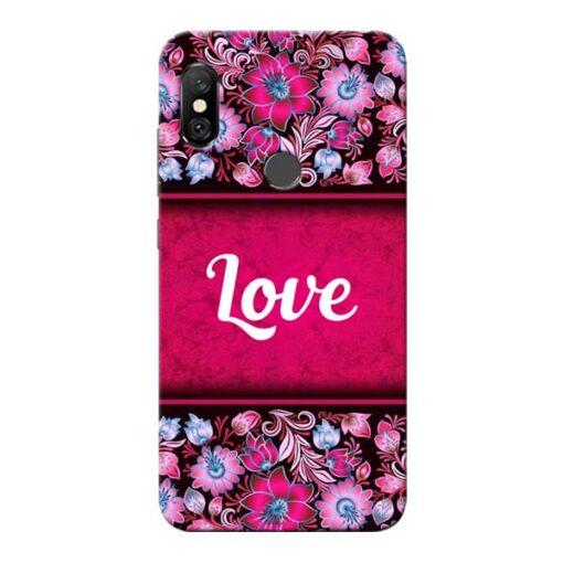 Red Love Redmi Note 6 Pro Mobile Cover