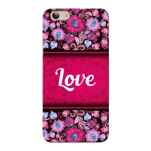 Red Love Vivo Y53 Mobile Cover
