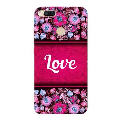 Red Love Xiaomi Mi A1 Mobile Cover
