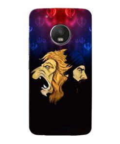 Singh Lion Moto G5 Plus Mobile Cover