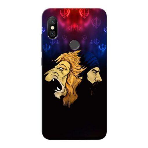 Singh Lion Redmi Note 6 Pro Mobile Cover