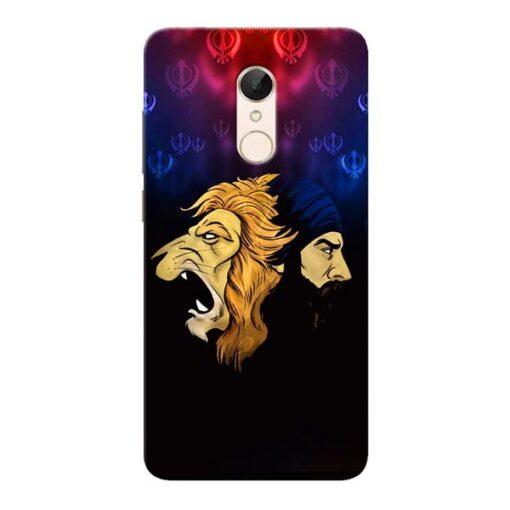 Singh Lion Xiaomi Redmi 5 Mobile Cover
