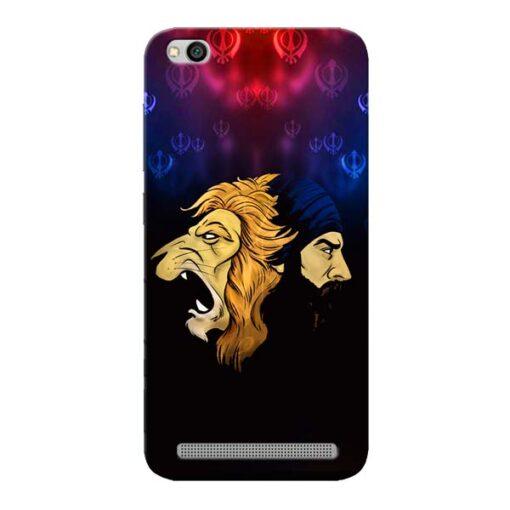 Singh Lion Xiaomi Redmi 5A Mobile Cover