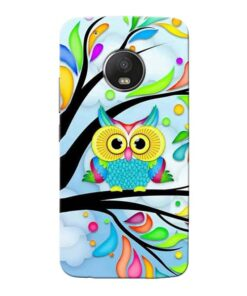 Spring Owl Moto G5 Plus Mobile Cover