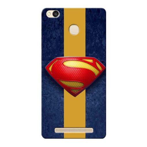 SuperMan Design Xiaomi Redmi 3s Prime Mobile Cover